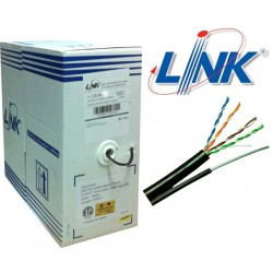 LINK CAT5e UTP Cable (305m./Box)  (Single Jacket OUTDOOR, US-9015M)Original มีสลิง