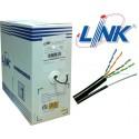 LINK CAT5e UTP Cable (305m./Box)  (Single Jacket OUTDOOR, US-9015M)Original มีสลิง