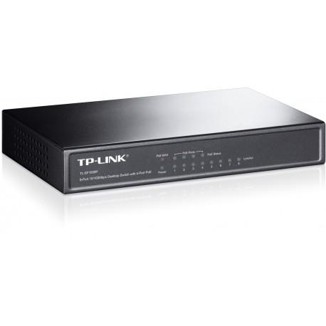 TP-LINK 8-Port 10/100Mbps Desktop Switch with 4-Port PoE TL-SF1008P