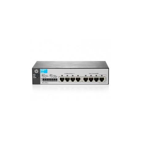 HP 1810-8 V2 (J9800A) 7-Port 10/100 + 1-Port 10/100/1000 Layer 2 Smart Managed Switch