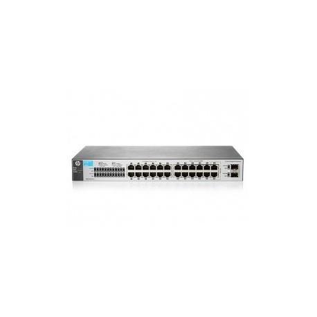 HP 1810-24 V2 (J9801A) 22-Port 10/100 + 2-Port SFP 1000 Mbps Layer 2 Smart Managed Switch