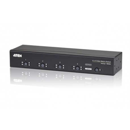 ATEN : VM0404 (4 x 4 Video Matrix Switch with Audio)