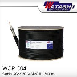 สาย RG6 /168 WATASHI  รุ่น WCP004 (Black) ความยาว 500M