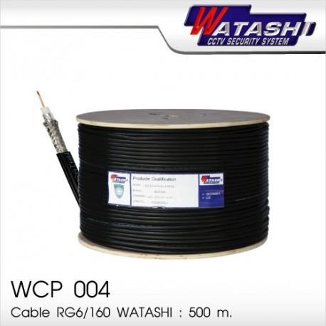 Cable 500M RG6/168 WATASHI  WCP004 (Black)