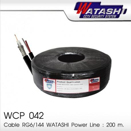 Cable 200M RG6/168 WATASHI Power Line WCP042 (Black)
