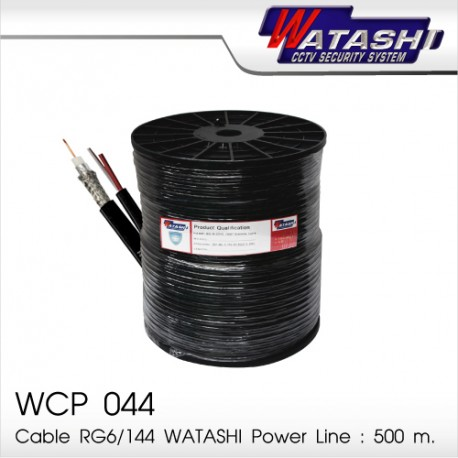 Cable 500M RG6/168 WATASHI Power Line WCP044 (Black)
