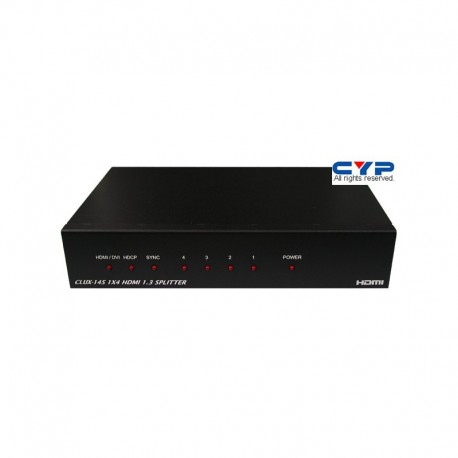 1 IN/4 OUT HDMI SPLITTER ยี่้ห้อ CYP รุ่น CLUX-14S