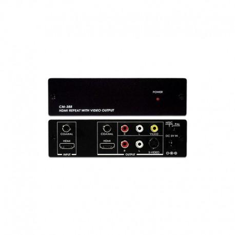 AV/S-VIDEO TO HDMI CONVERTER WITH AUDIO INPUT รุ่น CM-398H