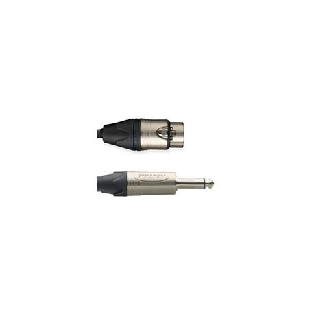Microphone Cable XLR/F-Plug Mono/M (Neutrik)