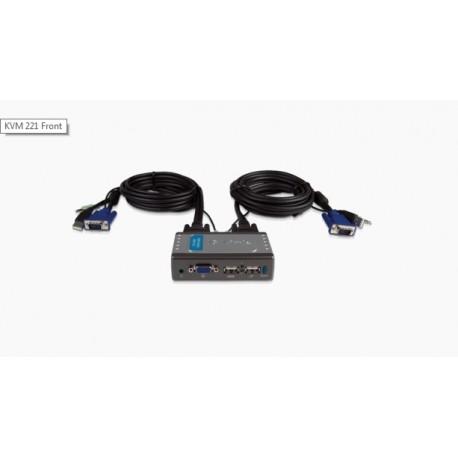 KVM Switch D-LINK (DKVM-221) 2 Port USB with Audio Support