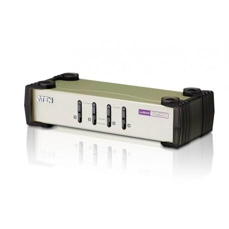 ATEN:CS84U  4-Port PS/2-USB KVM Switch