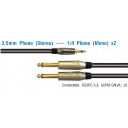 AMPHENOL 3.5 mm Phone (Stereo) ----Phone (Mono) x2