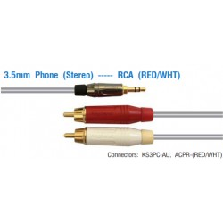 AMPHENOL 3.5mm Phone (Stereo) ---- RCA (RED/WHT)