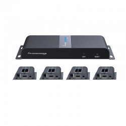 VANZEL รุ่น  LH-104EA 4 PORT HDMI SPLITTER & 40M. EXTENDER OVER CAT6/6A/7 WITH RX POE SUPPORT