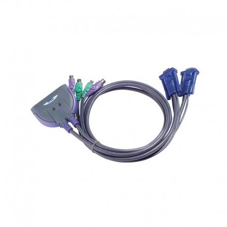 ATEN รุ่น  CS62 2 PORTS PS/2 KVM CABLE 1.2 M