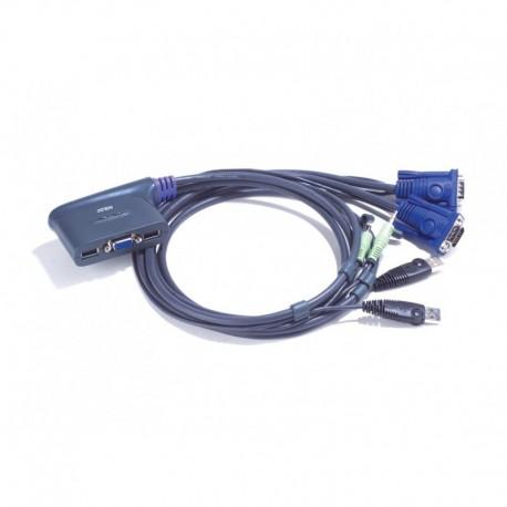 ATEN รุ่น CS62U 2PORTS USB KVM CABLE 1.8 M