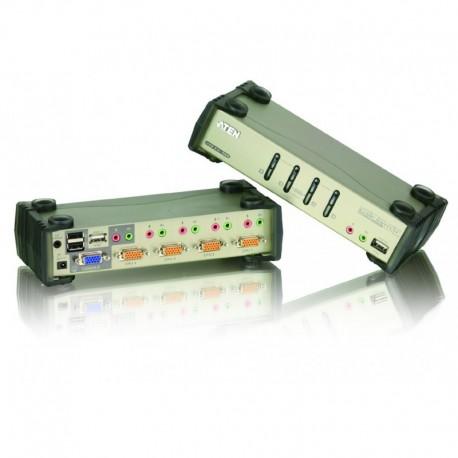 ATEN รุ่น CS1734B  4 PORT PS/2 USB KVM SWITCH