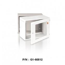 "G1-60512  19"" GERMAN WALL RACK 12U, ลึก 50 cm. (ตู้ 3 Part มีลูกกลิ้ง)"