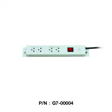 G7-00004  AC POWER DISTRIBUTION 4 Universal Outlet w/Cable 1.8 M. & Surge Protection (รางไฟ 4 Outlet)