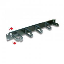 US-3051  CABLE MANAGEMENT PLASTLC RING PANEL (แผงจัดสายห่วงพลาสติก)