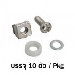 G7-09300SET  SCREW M6 + CAPTIVE NUT M6 + Plastic washer + Metal gasket ( Packed 10 piece / Pkg)