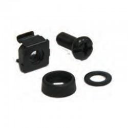 G7-09300B  SCREW M6 + CAPTIVE NUT M6 + Plastic washer + Metal gasket : ชุดน็อต M6 (Black)