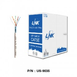 US-9035  สายแลน CAT5E F/UTP Enhanced CABLE (350 MHz) ,CMR (Color White)
