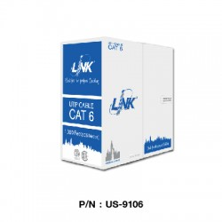 US-9106  CAT 6 UTP (250 MHZ) w/Cross Filler, 23 AWG, CMR (Color White)