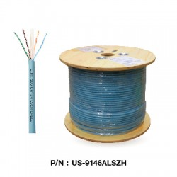 US-9146ALSZH  CAT 6A UTP XG (500 MHz) CABLE, LSZH (Color Aqua Blue)