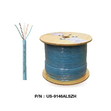 US-9146ALSZH  CAT 6A UTP XG (500 MHz) CABLE, LSZH (Color Aqua Blue)