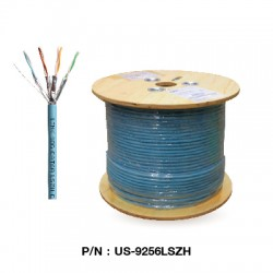 US-9256LSZH  CAT 6A U/FTP XG (500 MHz) CABLE, LSZH (Color Aqua Blue)