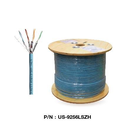 US-9256LSZH  CAT 6A U/FTP XG (500 MHz) CABLE, LSZH (Color Aqua Blue)